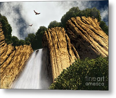 Dragons Den Canyon Metal Print by Richard Rizzo