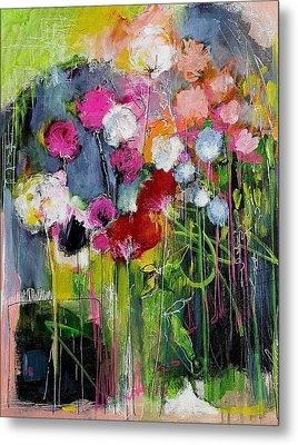 Dramatic Blooms Metal Print by Nicole Slater