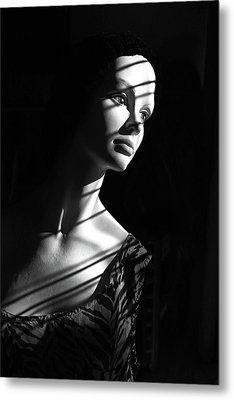 Metal Print featuring the photograph Dramatic Lucy In Black And White by Nareeta Martin