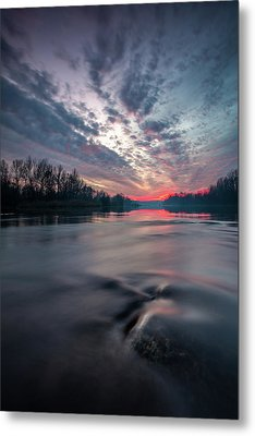 Metal Print featuring the photograph Drava by Davorin Mance