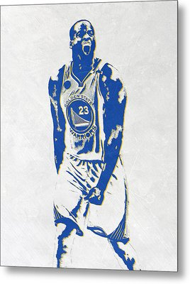 Draymond Green Golden State Warriors Pixel Art Metal Print