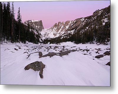 Metal Print featuring the photograph Dream Lake - Pre Dawn by Aaron Spong
