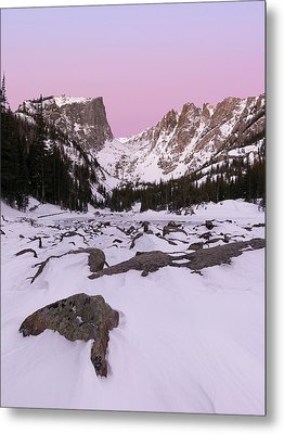 Metal Print featuring the photograph Dream Lake Winter Vertical by Aaron Spong