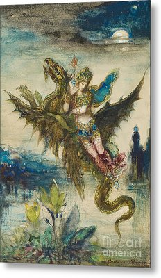 Dream Of The Orient Or The Peri Metal Print by Gustave Moreau