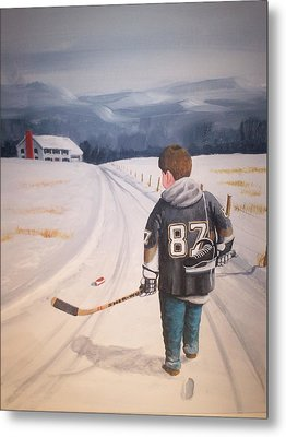 Dream Walking - The Kid Metal Print by Ron  Genest