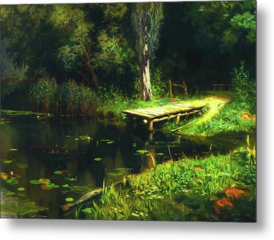 Dreaming Of Secret Places Metal Print