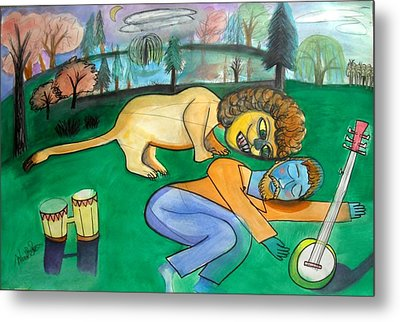 Dreaming Poet Metal Print by Ward Smith