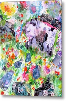 Metal Print featuring the mixed media Dreams Of Love And Other Fateful Encounters by Beth Saffer