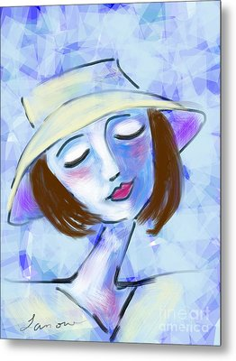 Dreamy Jeanne Metal Print by Elaine Lanoue