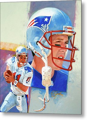 Drew Bledsoe Metal Print by Cliff Spohn