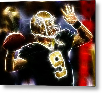 Drew Brees New Orleans Saints Metal Print by Paul Van Scott