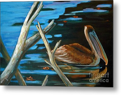 Metal Print featuring the painting Driftin Brownie by Suzanne McKee