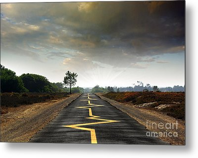 Drive Safely Metal Print