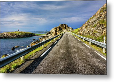 Metal Print featuring the photograph Driving Along The Norwegian Sea by Dmytro Korol