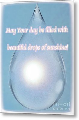 Drops Of Sunshine Metal Print