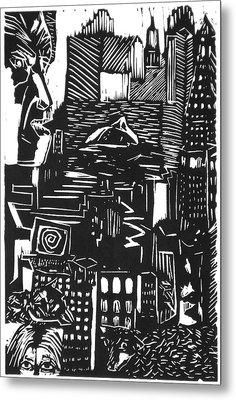 Drowning In Metropolis Metal Print by Darkest Artist