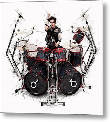 Drummer Controlled Chaos Metal Print