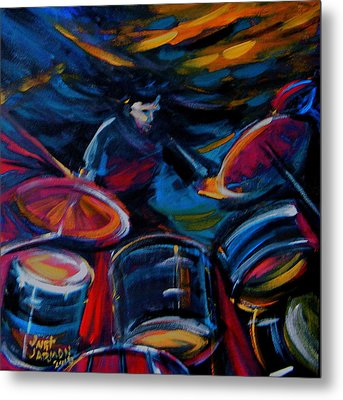 Drummer Craze Metal Print by Jeanette Jarmon