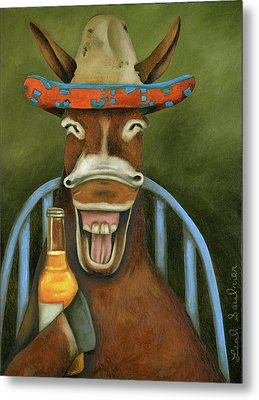 Metal Print featuring the painting Drunken Dumb Ass by Leah Saulnier The Painting Maniac