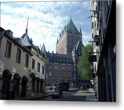Metal Print featuring the photograph du Fort Chateau Frontenac by John Schneider