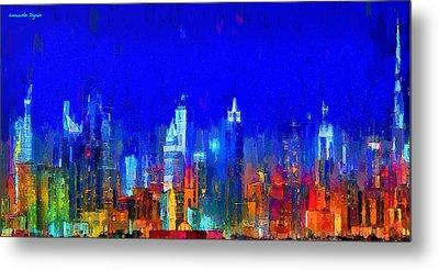 Dubai Skyline 50 - Da Metal Print