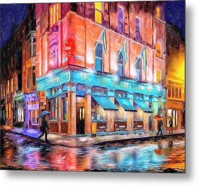 Dublin In The Rain Metal Print by Mark Tisdale