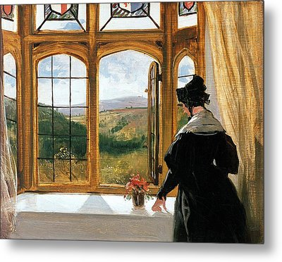 Duchess Of Abercorn Looking Out Of A Window Metal Print