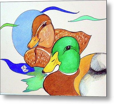 Ducks2017 Metal Print by Loretta Nash