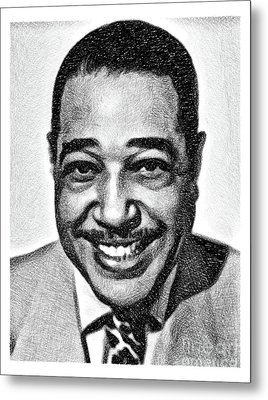 Duke Ellington, Music Legend By Js Metal Print