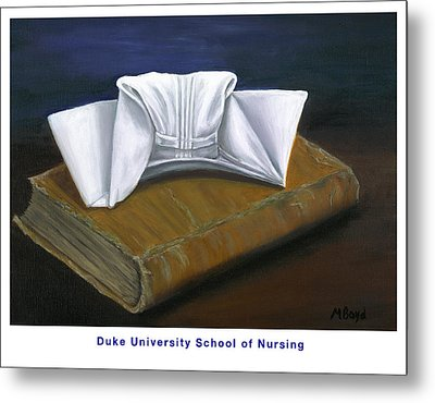 Duke University School Of Nursing Metal Print by Marlyn Boyd