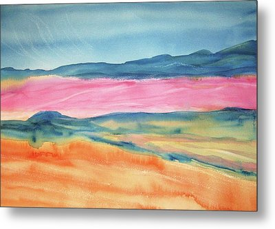 Metal Print featuring the painting Dunes by Ellen Levinson