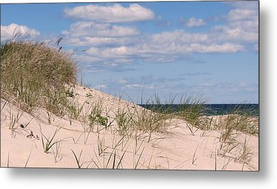 Dunes Of White Horse Beach Metal Print by Janice Drew