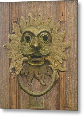 Durham Cathedral Door Knocker Metal Print