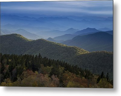 Dusk On The Blue Ridge Parkway Metal Print
