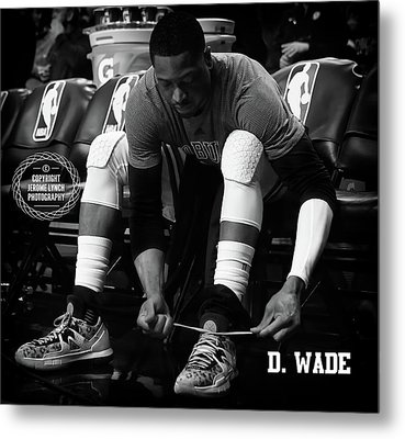 Dwayne Wade Metal Print by Jerome Lynch