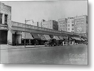 Metal Print featuring the photograph Dyckman Street, 1927 by Cole Thompson