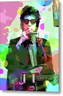Dylan In Studio Metal Print