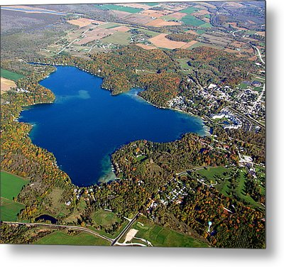 E-006 Elkhart Lake Wisconsin Fall Lake Metal Print by Bill Lang