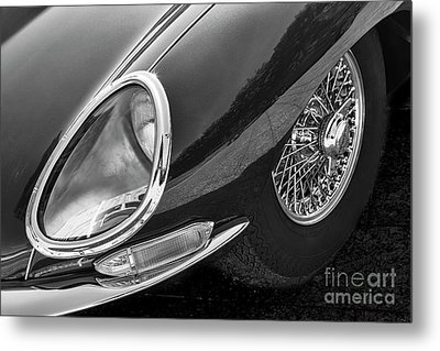 Metal Print featuring the photograph E-type Monotone by Dennis Hedberg