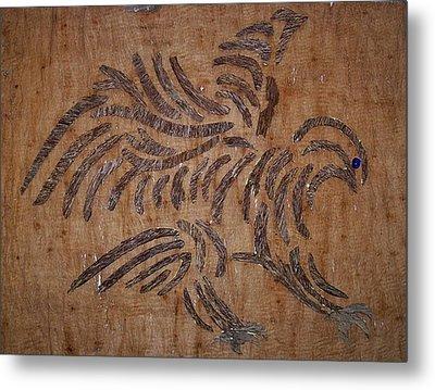 Eagle Tribal Of Agar Wood Metal Print by Joedhi