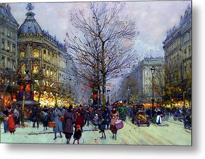 Early Evening On The Boulevards Paris Metal Print
