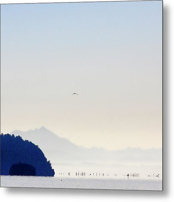Early Morning Ala Spit Whidbey Island Square Format Metal Print