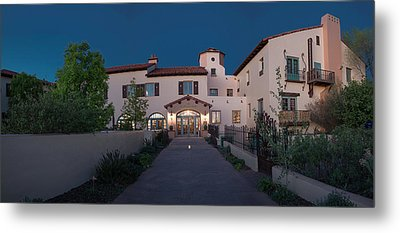 Early Morning At La Posada Metal Print by Charles Ables