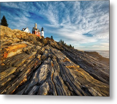 Early Morning At Pemaquid Point Metal Print