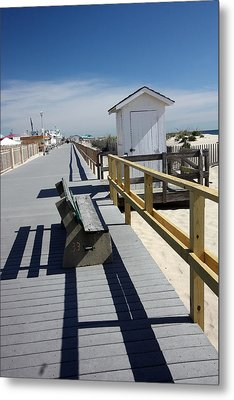Early Morning Boardwalk Metal Print