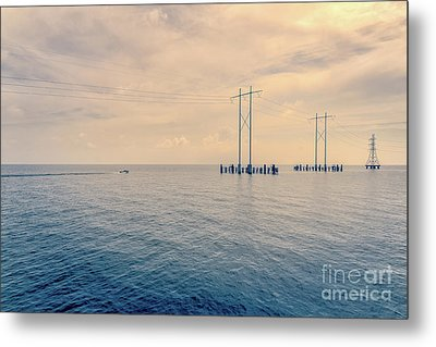 Early Morning Boat Ride - Nola Metal Print