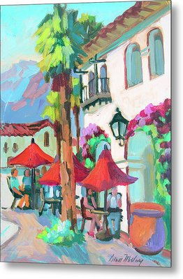 Metal Print featuring the painting Early Morning Coffee In Old Town La Quinta 2 by Diane McClary
