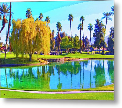 Early Morning Tee Time Metal Print by Dominic Piperata