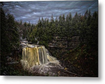 Early Snow At Black Water Falls Metal Print