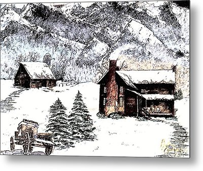Early Snowfall Metal Print by Penny Everhart